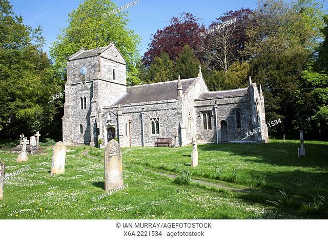 Village parish church of St Mary, Orcheston, Wiltshire, England