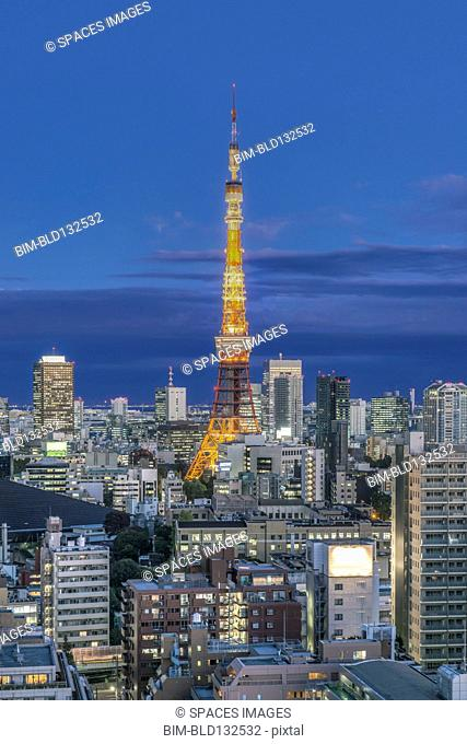 Tokyo Tower and cityscape, Tokyo, Japan