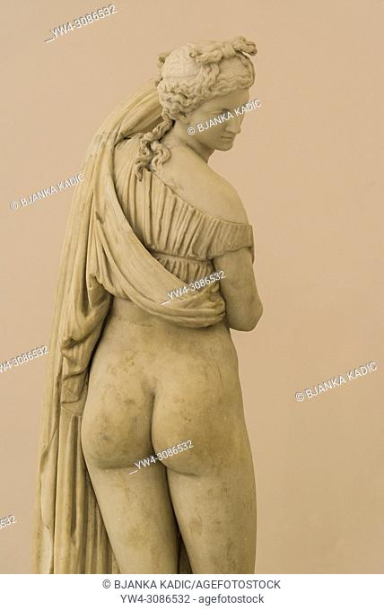 Venus Kallipygos statue, National Archaeological Museum, Naples, Italy