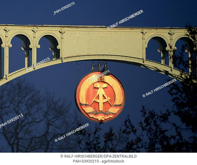 East german flag berlin wall Stock Photos and Images | age