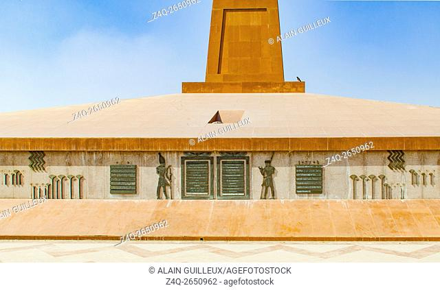 Egypt, Cairo, Heliopolis, at the entrance of the airport, there's a real obelisk. It was moved from Tanis and shows the cartouches of the king Ramses II