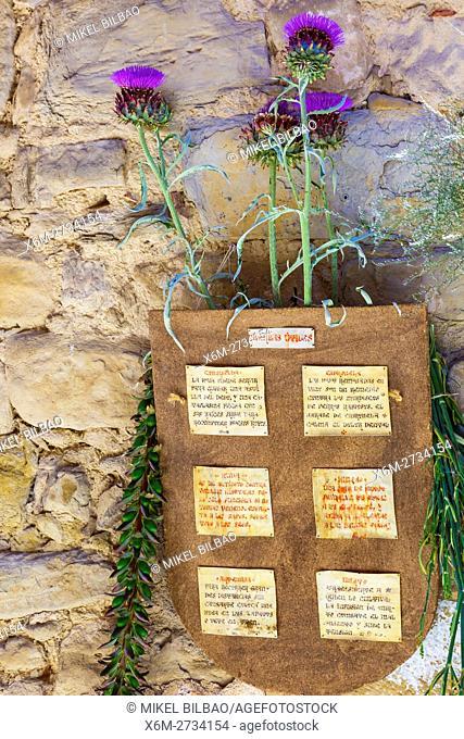 Thistle. Witchery Week 2016. Bargota, Navarre, Spain, Europe
