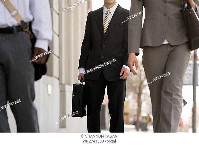 Businesspeople walking