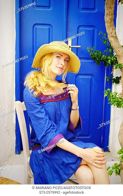 30 year old woman in Mykonos, Cyclades Islands, Greece, Europe
