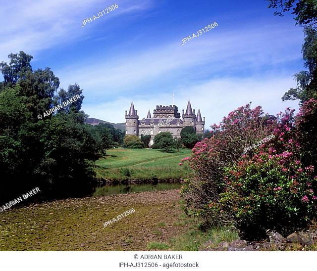 Inverary Castle on the shore of Loch Fyne