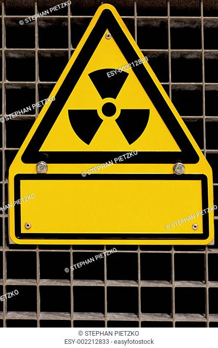 Radioactive Sign with copyspace