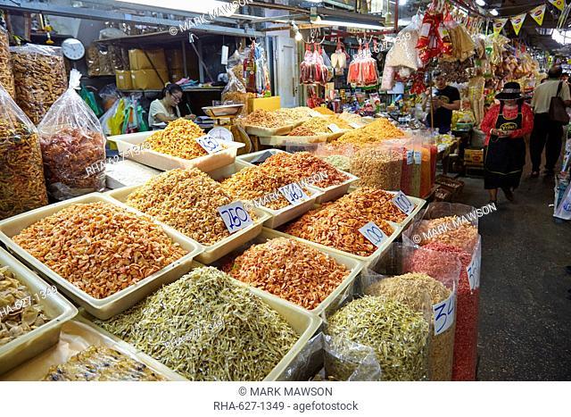 Dried seafood at Fish Market at Samut Sakhon, Bangkok, Thailand, Southeast Asia, Asia