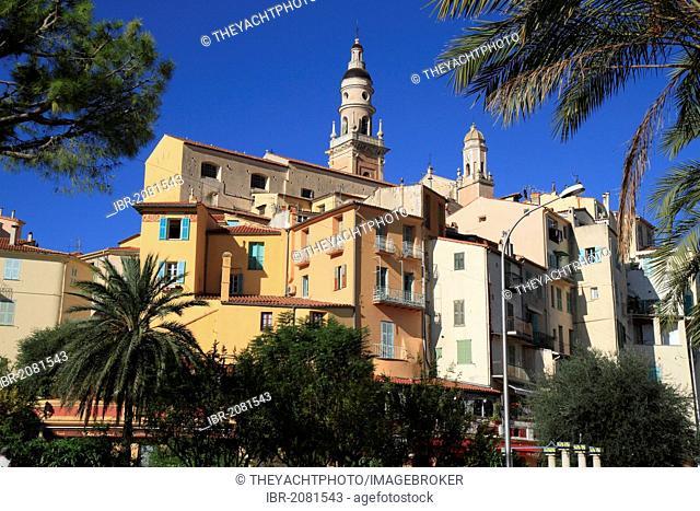 Historic centre and St. Michel church, Menton, Alpes-Maritimes department, Provence-Alpes-Cote d'Azur region, France, Europe
