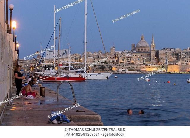 A view from the harbour in the city of Sliema of the capital Valletta on the other side of Marsamxett Harbour, pictured in August 2014