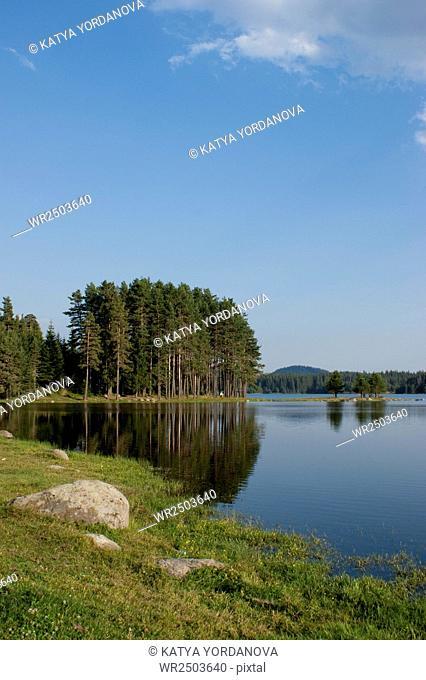 Dospat dam, the Rhodope Mountains, Bulgaria