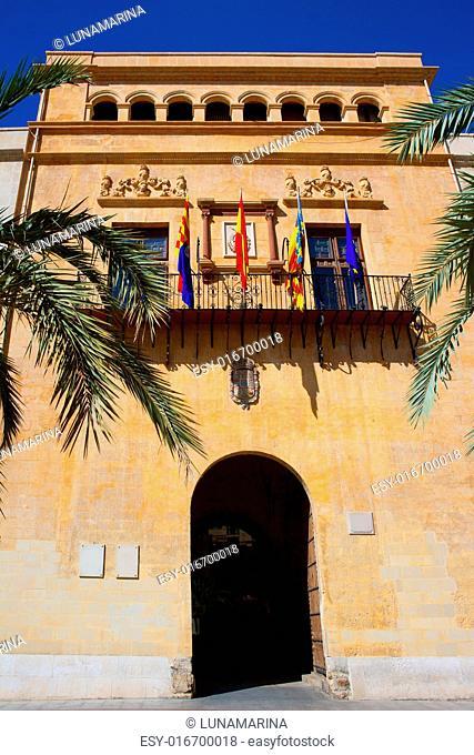 Elche Elx Alicante Ayuntamiento city town hall Valencian Community of Spain