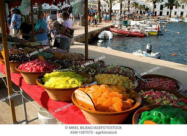 sweet store  Fornells, Minorca, Balearic Islands, Spain