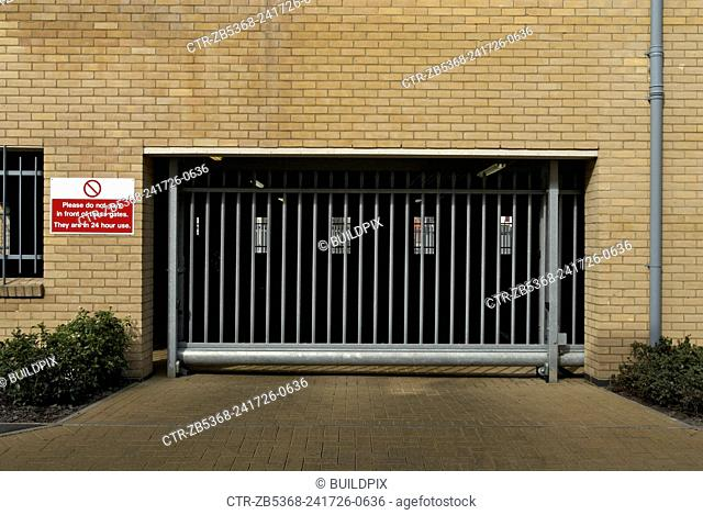 Private entrance for ground floor residential parking