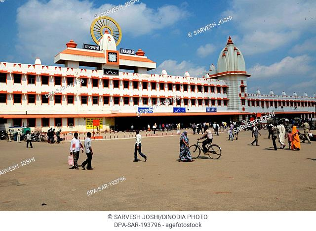 Railway station, varanasi, uttar pradesh, india, asia