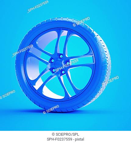 Illustration of a blue tyre