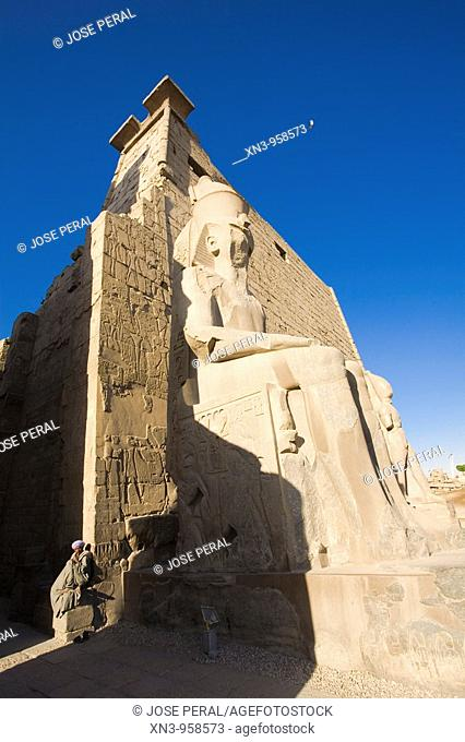Entrance to Luxor Temple. Egypt