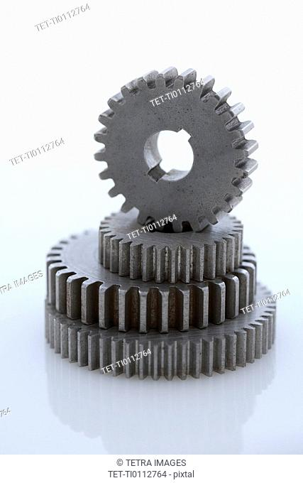 Stack of large gears