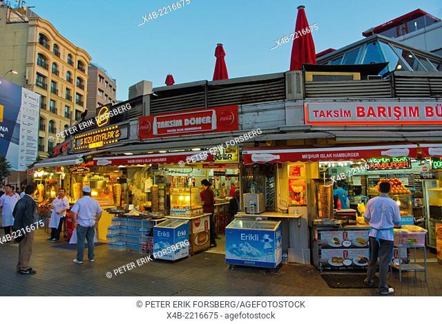 Kebab restaurants,Taksim square, Beyoglu district, central Istanbul, Turkey, Eurasia