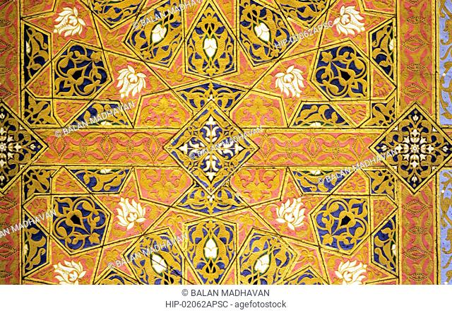 ROOF PAINTING IN DURBAR HALL OF THE RESIDENCY, ANDHRA PRADESH,INDIA