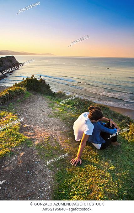 Cliff-Flysch over Itzurrun beach, Zumaia, Guipuzcoa, Basque Country, Spain