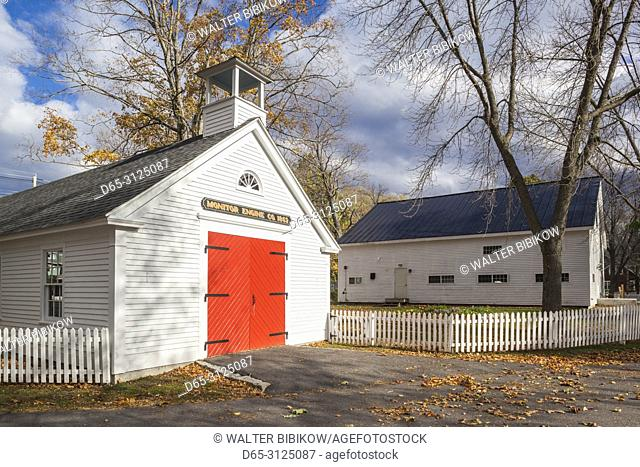 USA, New England, New Hampshire, Lakes Region, Wolfeboro, Clark House Museum Complex, antique fire house