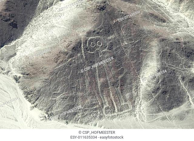 Astronaut image at the Nazca lines in Peru