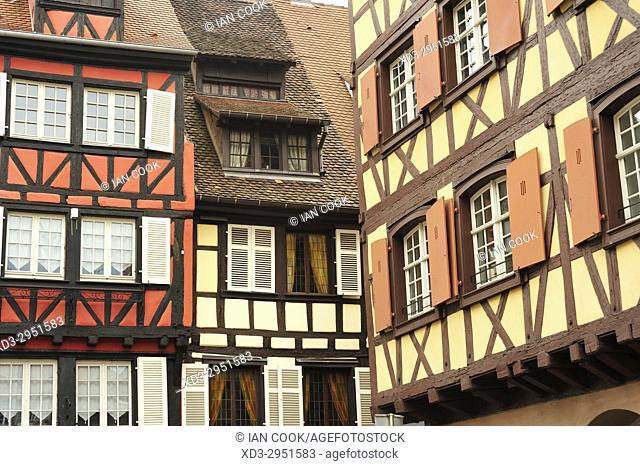 architectural details, Colmar, Haut-Rhin department, Alsace, France