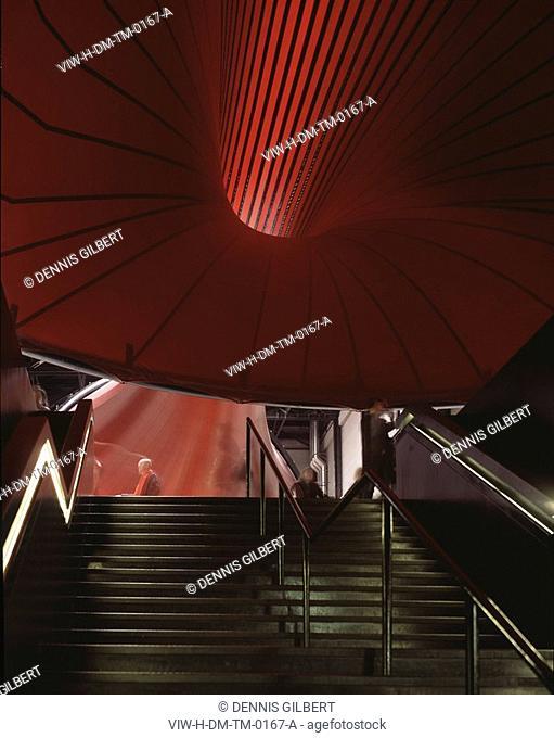 TATE MODERN, BANKSIDE, LONDON, SE1 SOUTHWARK + BERMONDSEY, UK, HERZOG & DE MEURON, INTERIOR, MARSYAS BY ANISH KAPOOR