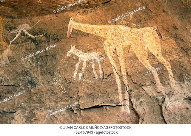 Cave painting. Akakus Mounts. Feezan, Libya