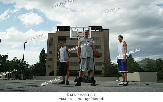 WS Men playing basketball / Salt Lake City, Utah, USA