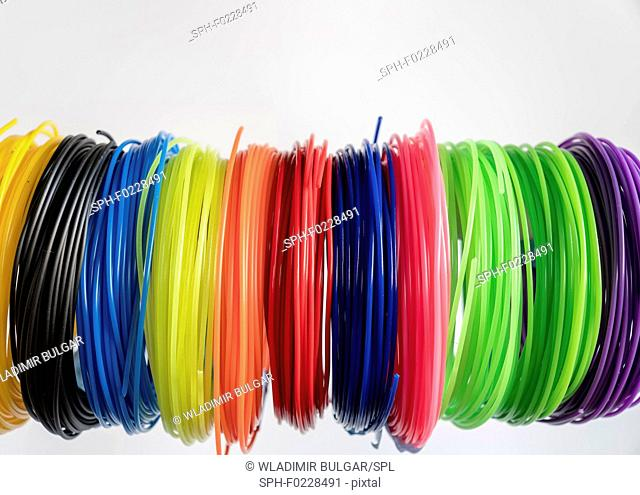 Plastic filaments for 3D printing
