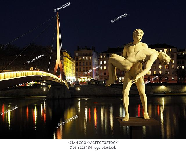 The Weight of Onesself statue, Lyon, France