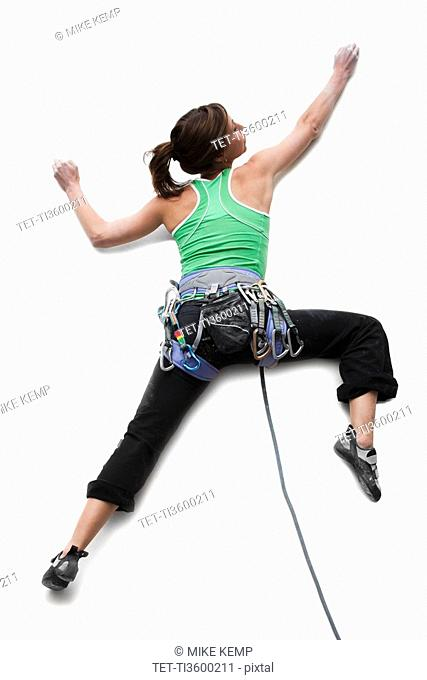 Studio Shot of a woman climber