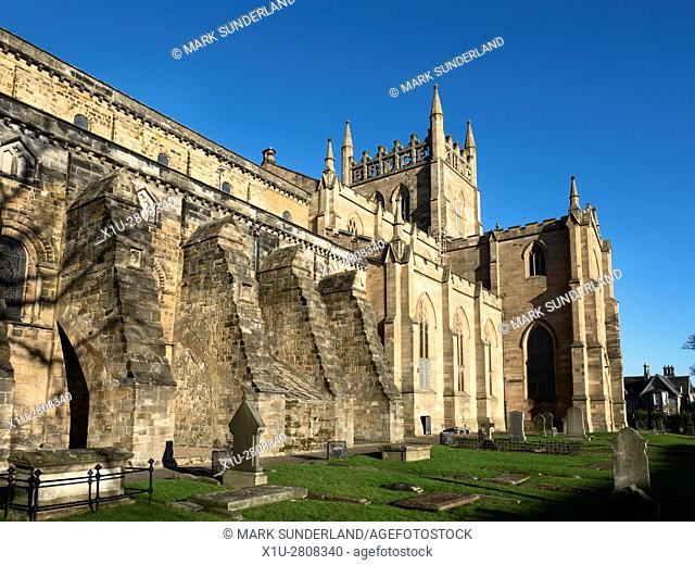 Abbey Nave and Parish Church at Dunfermline Abbey Dunfermline Fife Scotland