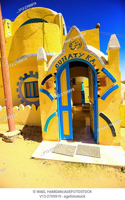 Nubian house decoration, Nubia, Southern Egypt