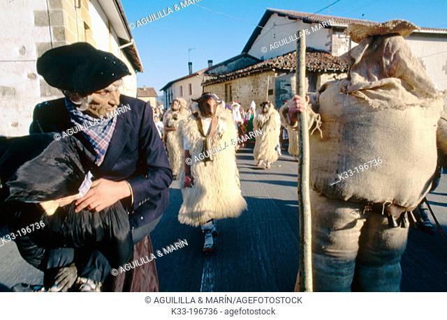 'Markitos', carnival figure. Zalduendo. Álava province. Spain