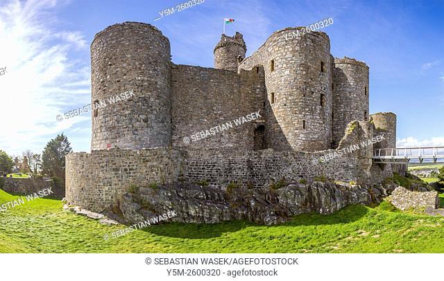 Harlech Castle, Harlech, Gwynedd, Wales, United Kingdom, Europe