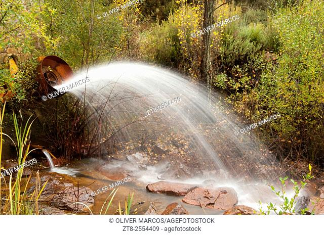 """In the Northwest of the Province of León is located the """"""""Sierra del Teleno"""""""" is an area of abundant underground springs that the locals channeled into swamps"""