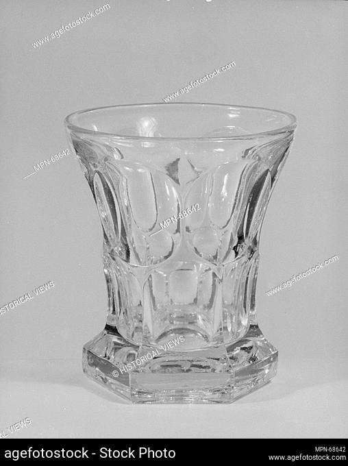 Tumbler. Date: 1830-70; Geography: Made in United States; Culture: American; Medium: Pressed glass; Dimensions: H. 4 3/16 in. (10.6 cm); Diam