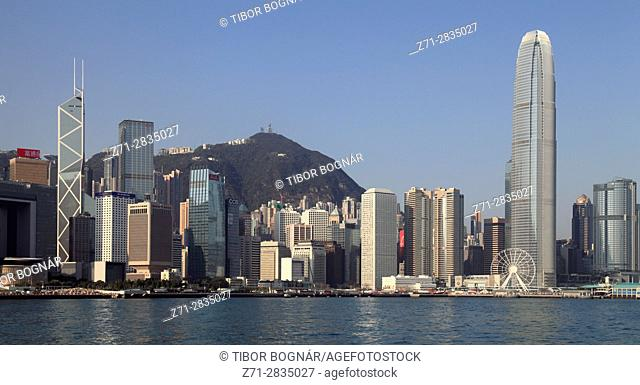 China, Hong Kong, Central district, skyline, Victoria Peak,