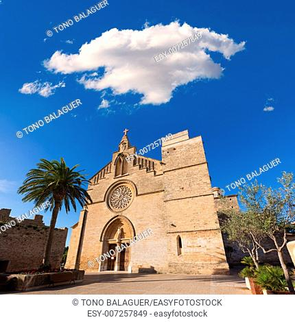 Alcudia Old Town Sant Jaume church in Majorca Mallorca Balearic island of Spain