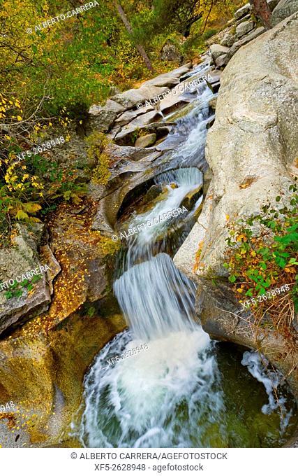 Boca del Asno, Recreational; Space, Eresma River, Valsain Forest, Guadarrama National Park, Segovia, Castilla y León, Spain, Europe