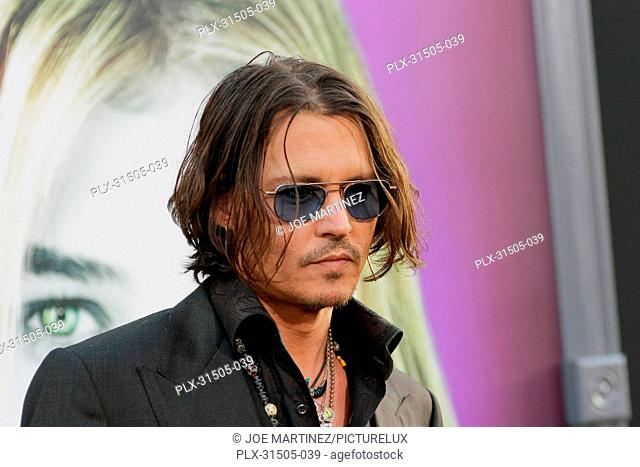 Johnny Depp at the World Premiere of Warner Brothers Pictures' Dark Shadows. Arrivals held at Grauman's Chinese Theater in Hollywood, CA, May 7, 2012