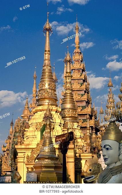 Northern terrace, Shwedagon Pagoda, Yangon, Myanmar, Burma, Southeast Asia