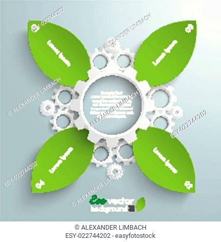 Green Industry Cross Leaves
