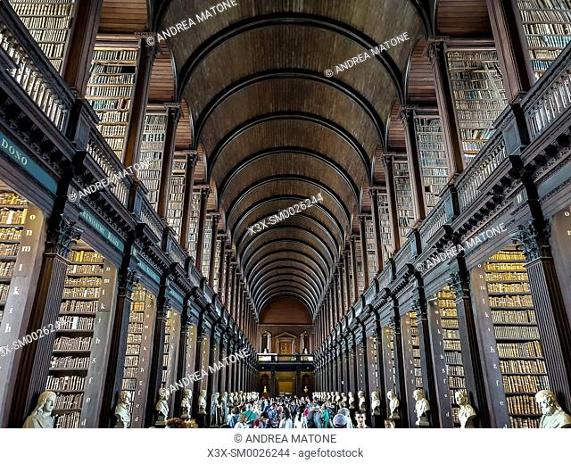 Trinity college library, Long Room, Dublin, Ireland, Europe