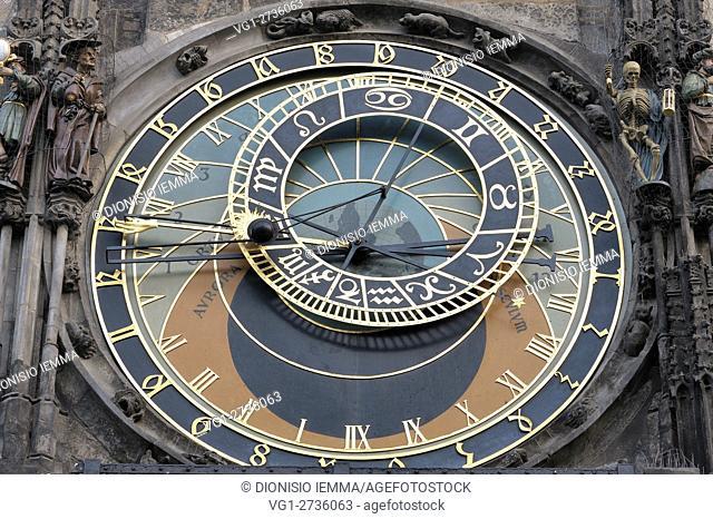Prague Old Town Square, Astronomical Clock, Prague, Czech Republic, Bohemia, Central Bohemia Region, Europe