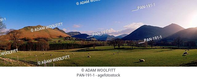 Newlands Valley, from Swinside, Northern Lake District, Cumbria, England
