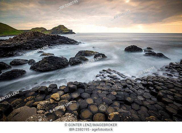 Basalt columns at the Giant's Causeway, Causeway Coast, County Antrim, Northern Ireland, United Kingdom, Europe