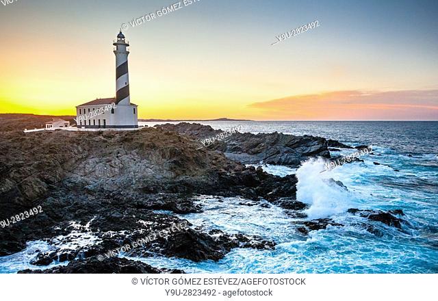 Favàritx Lighthouse, Minorca, Balearic Islands, Spain